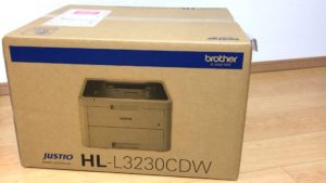 Brother JUSTIO HL-L3230CDW package