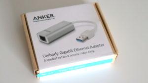 Anker アルミニウムユニボディハブ LANアダプター のパッケージ