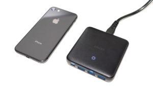 Anker PowerPort Atom Ⅲ SlimをiPhone8と比べてみた