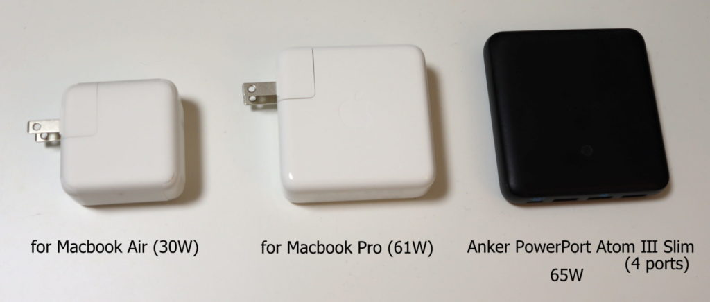 USB PDの充電器(Macbook Air/Pro/Ankerの汎用)