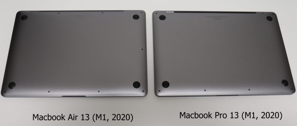 Macbook AirとProでネジの本数が違う