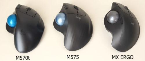 Logicool M570t、M575GR、MX ERGOで比較したところ
