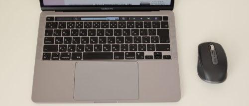 MX ANYWHERE 3 MX1700GRをMacbookで使っているところ