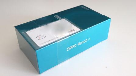 Oppo Reno3 Aのパッケージ
