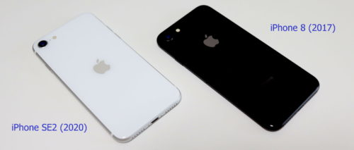 iPhone SE2とiPhone 8の背面デザイン