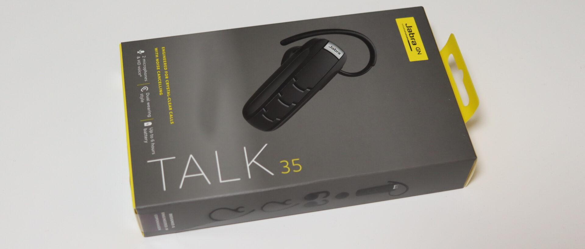 Jabra TALK 35のパッケージ横向き