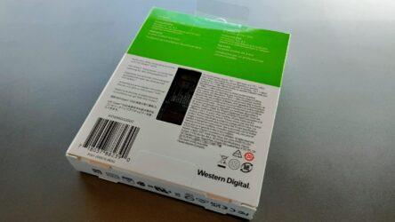 Western DigitalのWDS960G2G0Cのパッケージ裏面